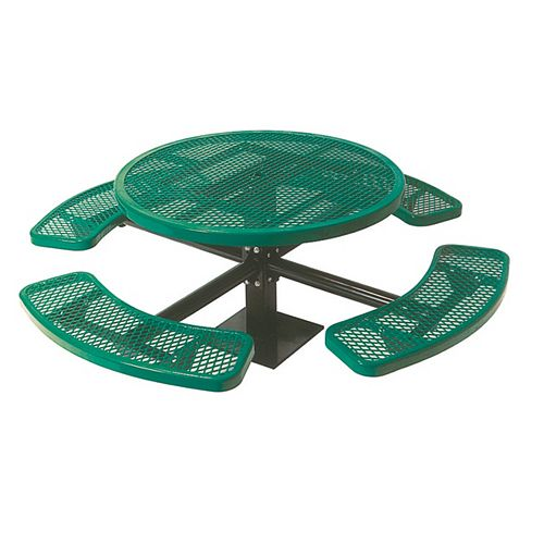 46-inch Commercial Round Surface-Mount Table in Green