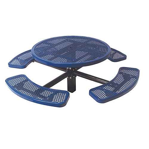 46-inch Commercial Round In-Ground Table in Blue