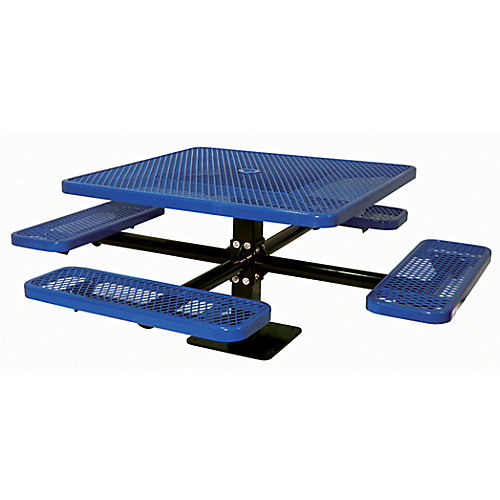 46-inch Commercial Square Surface-Mount Table in Blue