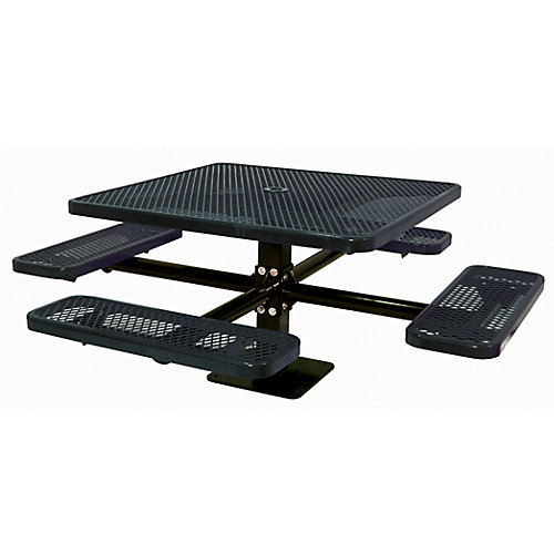 46-inch Commercial Square Surface-Mount Table in Black