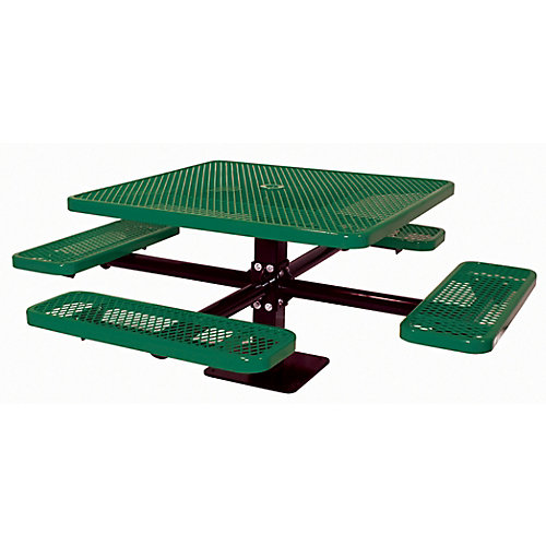 46-inch Commercial Square Surface-Mount Table in Green