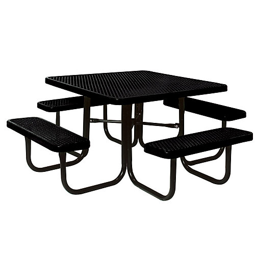 46-inch Black Diamond Commercial Park Square Portable Table