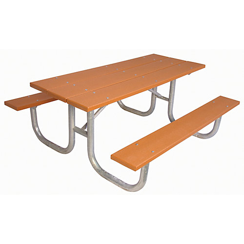 6 ft. Commercial Recycled Plastic Table in Cedar