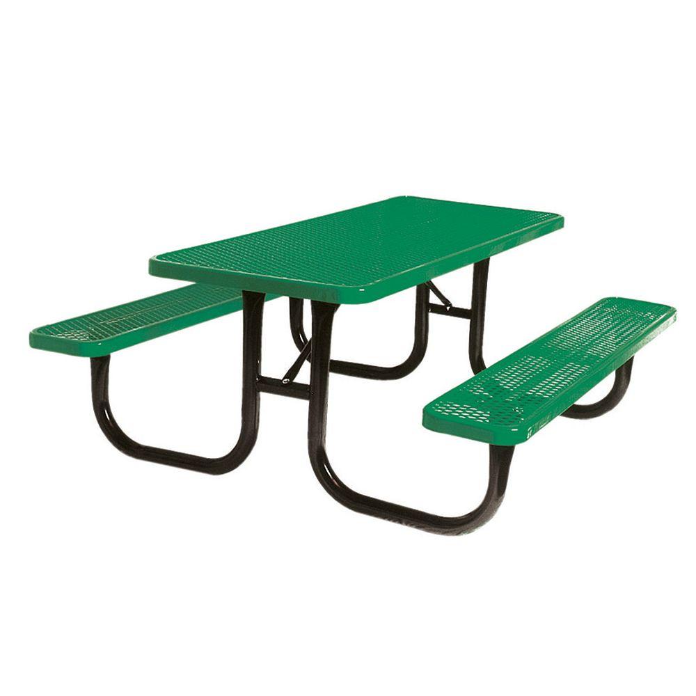 UltraSite 8 ft. Diamond Green Commercial Park Portable Rectangular Table