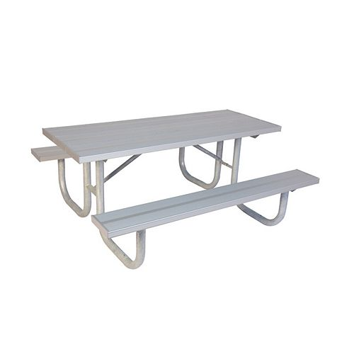 Table DE PARC DE 8 PI EN ALUMINIUM