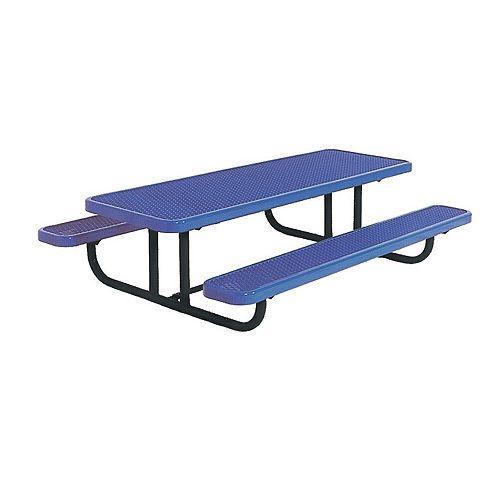 8 ft. Commercial Preschool Rectangular Portable Table in Blue