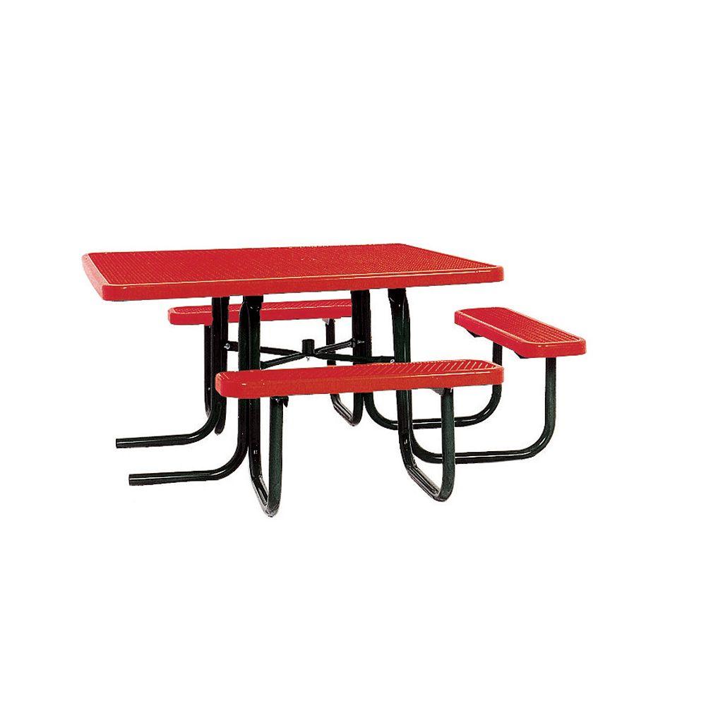 UltraSite Table carrée de 46po répondant aux normes de lADA- Rouge