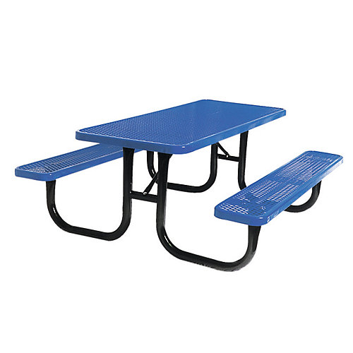 6 ft. Diamond Blue Commercial Park Rectangular Table Portable