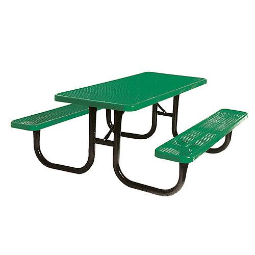 6 ft. Diamond Green Commercial Park Portable Rectangular Table