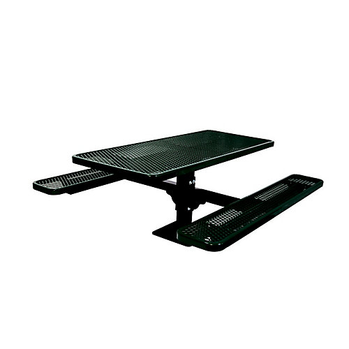 6 ft. Commercial Rectangular Surface-Mount Table in Black