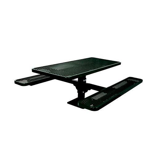 UltraSite 6 ft. Commercial Rectangular Surface-Mount Table in Black