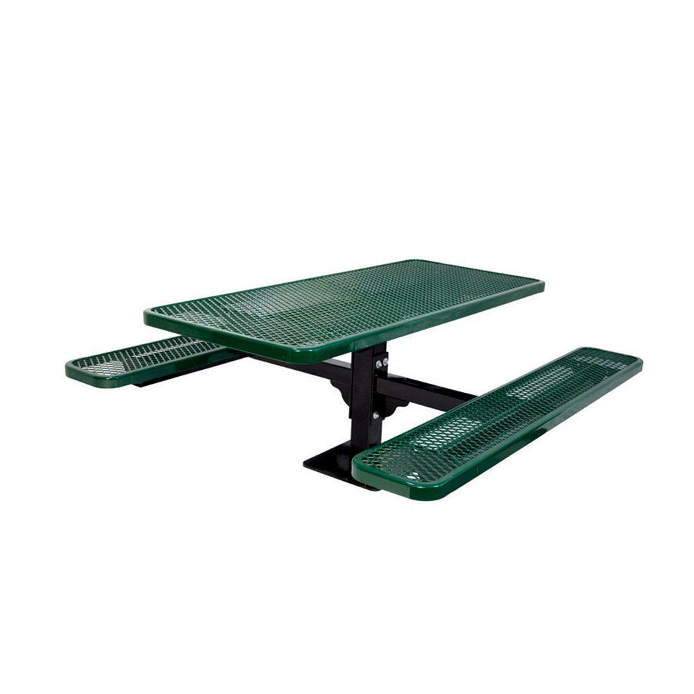 UltraSite Table rectangulaire de 6pi, pouvant être installé sur une surface- Vert