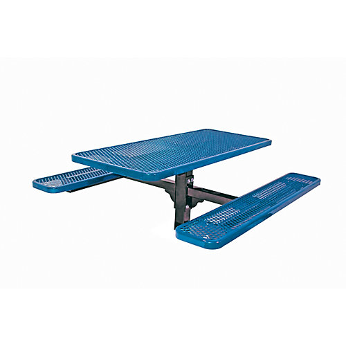 6 ft. Commercial Rectangular In-Ground Table in Blue