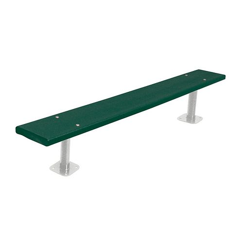 6 ft. Commercial Recycled Plastic Surface-Mount Bench in Green