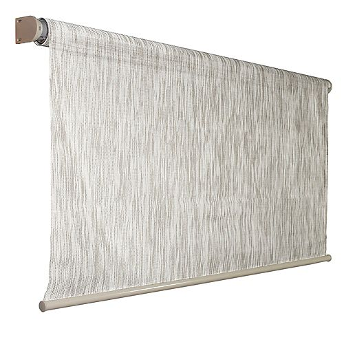 96 inch x 72 inch Birch Exterior Roller Shade, 92% UV Block