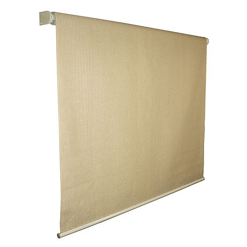96 Inch x 72 Inch Coolaroo Sunset Exterior Roller Shade, 90% UV Block