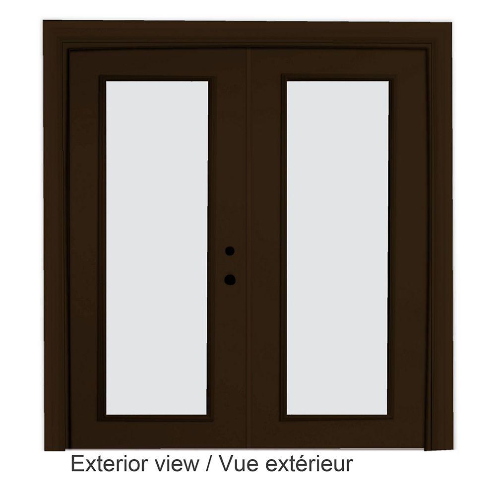STANLEY Doors Porte-fenêtre en acier brun (5 pi sur 82375 po) LowE Argon - ENERGY STAR®