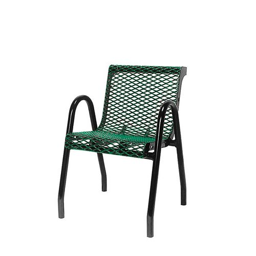 Commercial Food Court Chair in Green