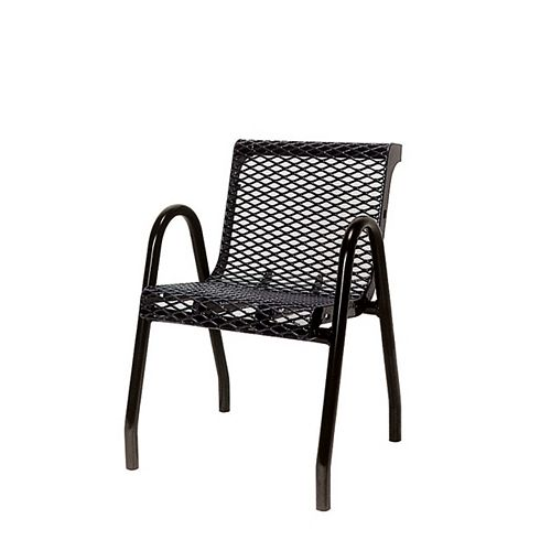 Commercial Food Court Chair in Black
