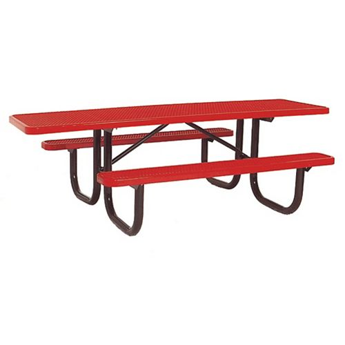 Table très durable de 8 pi de lADA- Rouge
