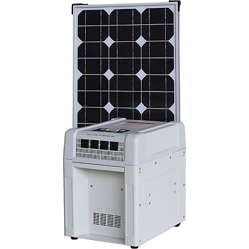 Home Solar Kit - 1800W Inverter, 60Ah Battery, 8 Amp Charge Controller, 80W Solar Panel