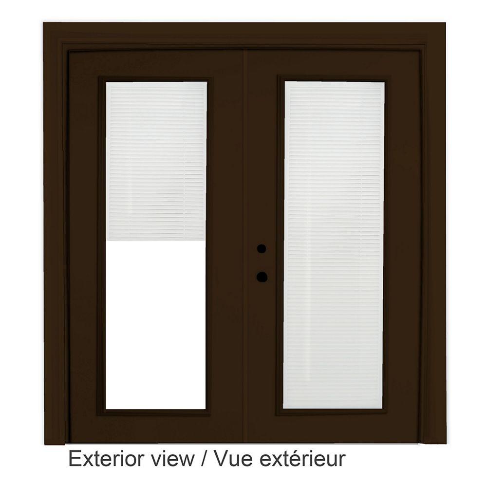 """STANLEY Doors Porte en acier brun - Store à mini - lamelles intégré disponibles en blanc uniquement (6' sur 82375"""" )"""