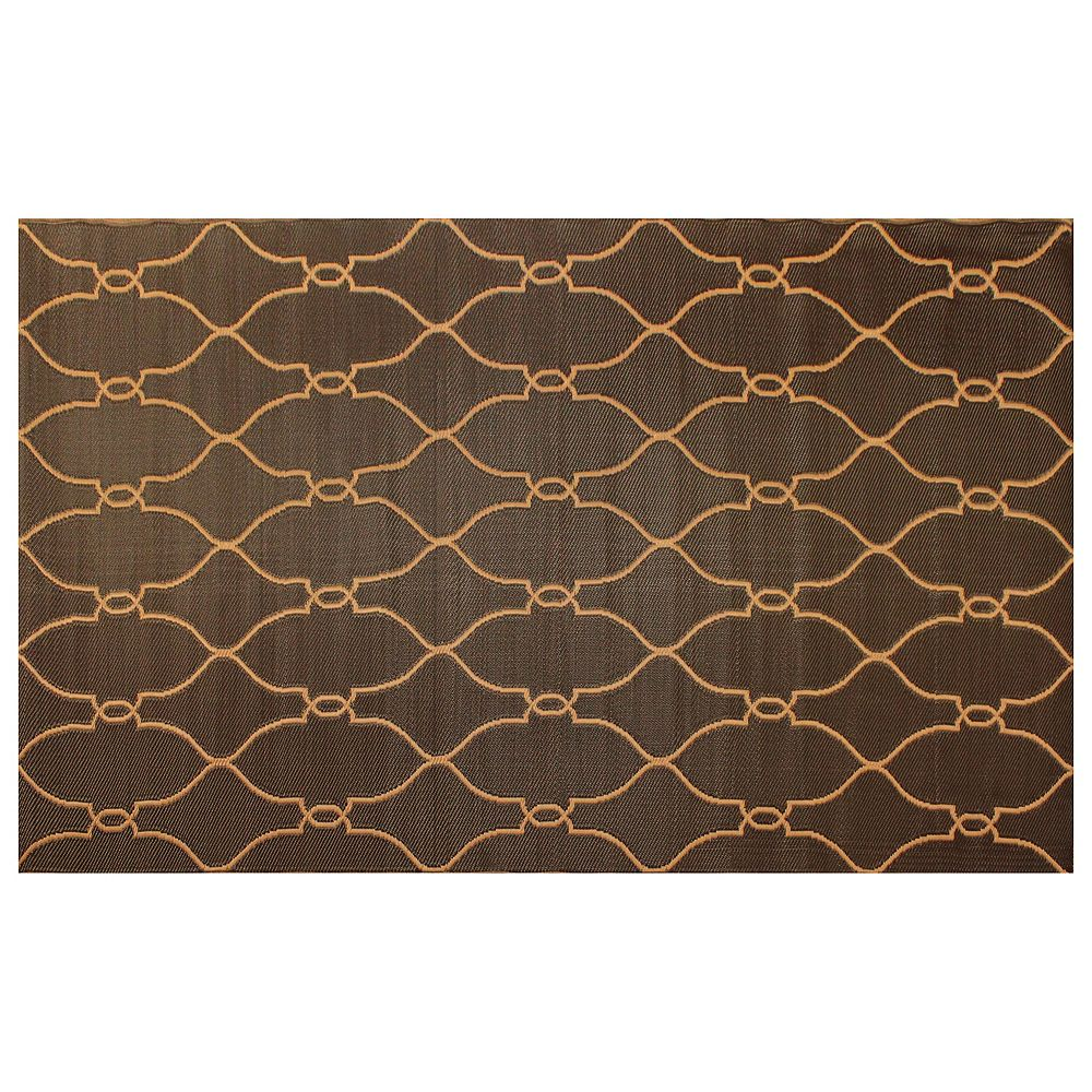 Home Decor Carpette, 6 pi x 9 pi, rectangulaire, brun