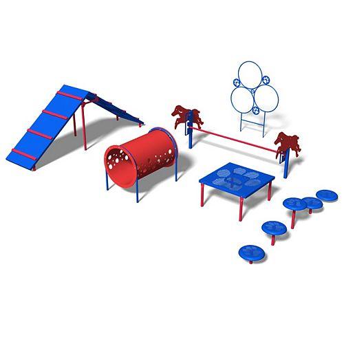 Bark Park Intermediate Obstacle Kit in Playful