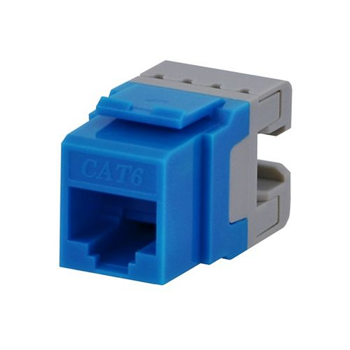 Commercial Electric Category 6 Jack - Blue