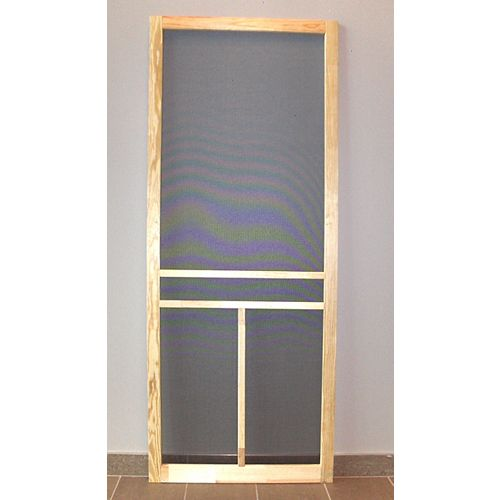 DIY 32-inch T-Bar Wood Screen Door