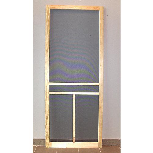 34-inch T-Bar Wood Screen Door