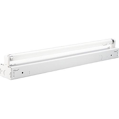 White 1-light, 24 inch Fluorescent Strip
