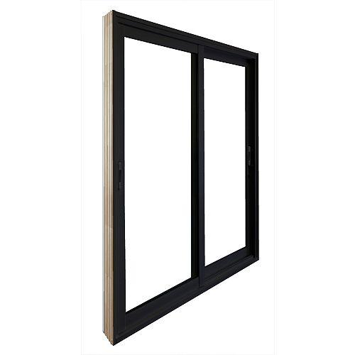 STANLEY Doors 59.75 inch x 79.75 inch Clear LowE Argon Painted Black Double Sliding Vinyl Patio Door - ENERGY STAR®