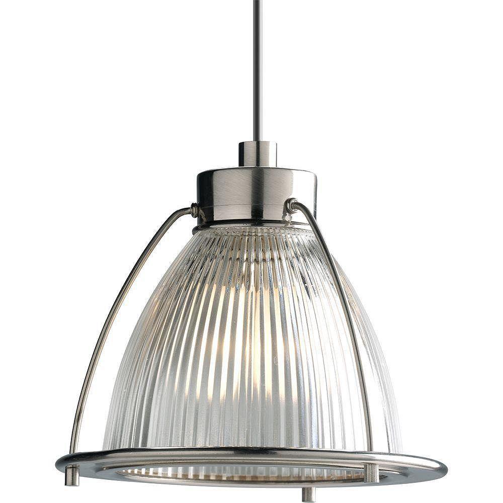 Progress Lighting Suspension à 1 Lumière, Collection Illuma-Flex - fini Nickel Brossé