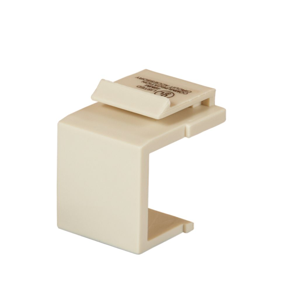 Commercial Electric Snap-In Blank Insert - Light Almond (6-Pack)