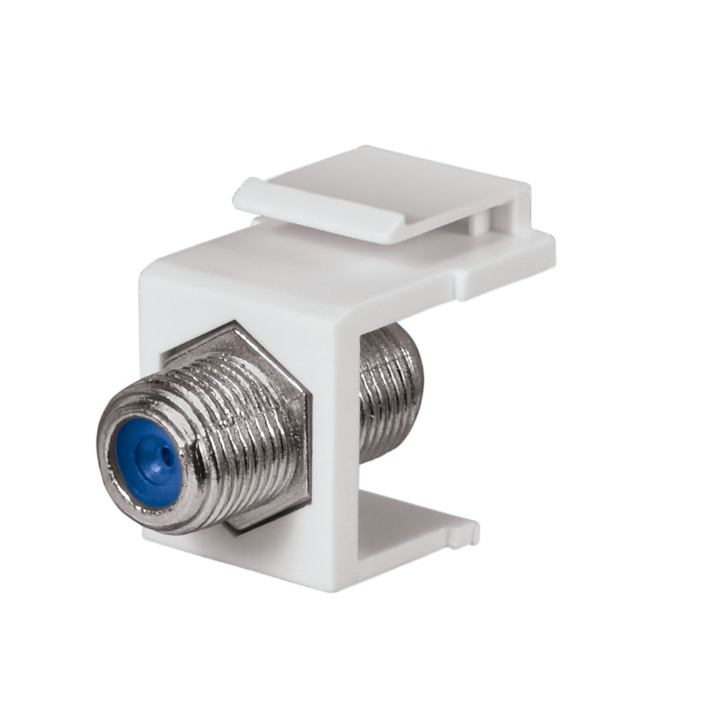 Commercial Electric F-Connector - White (10-Pack)