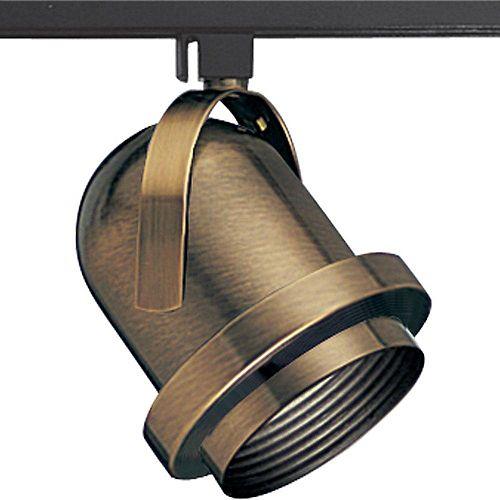 Douille dampoule orientable à 1 Lumière, Collection Alpha Trak - fini Laiton à l'Ancienne
