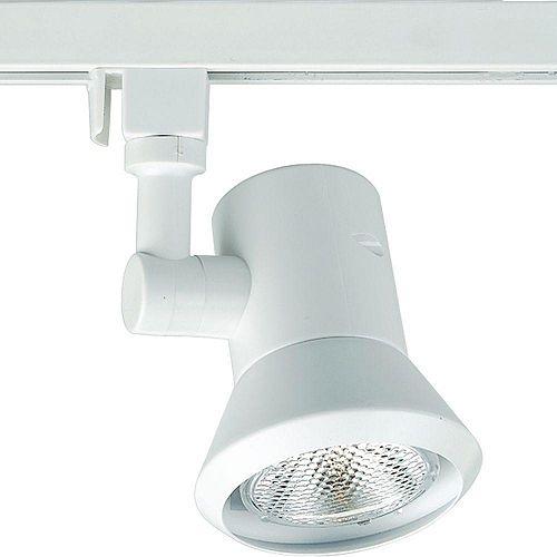 Douille dampoule orientable à 1 Lumière, Collection Alpha Trak - fini Blanc
