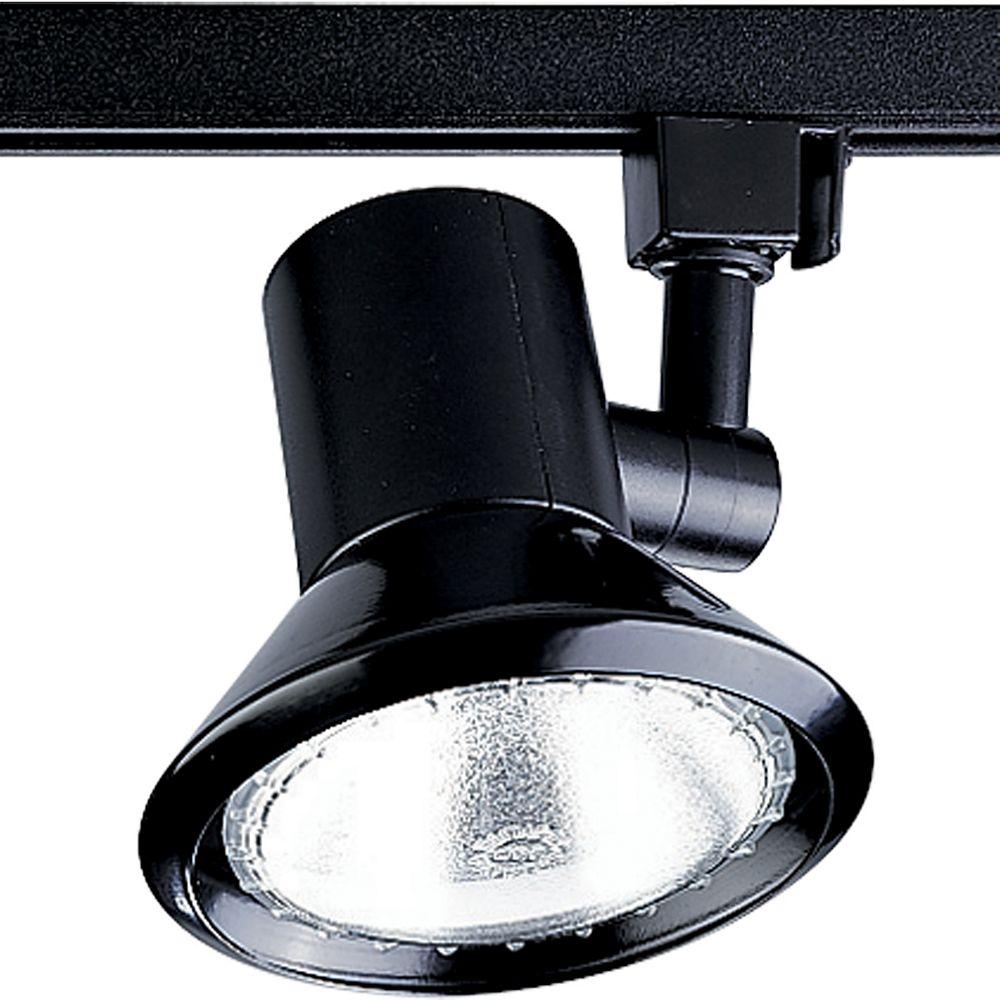 Progress Lighting Douille dampoule orientable à 1 Lumière, Collection Alpha Trak - fini Noir