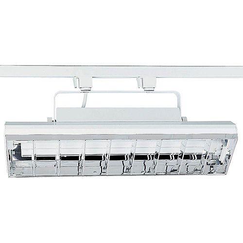 Douille dampoule orientable à 2 Lumières, Collection Alpha Trak - fini Blanc