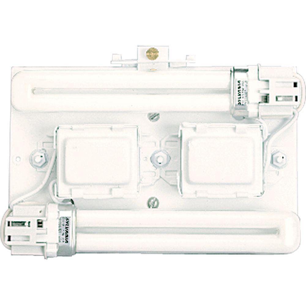 Progress Lighting Logement à 2 Lumières, Collection Wall Pocket - fini Blanc