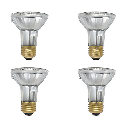 50W Halogen PAR20 Flood Light Bulb (4-Pack)