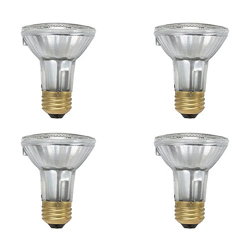 50W  PAR20 Halogen Light Bulb (4-pack)