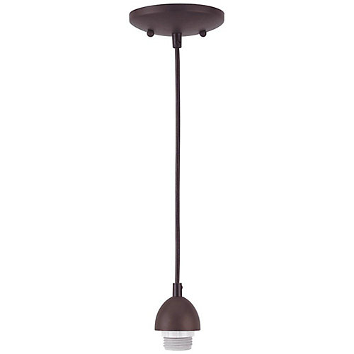 One-Light Adjustable Mini Pendant, Oil Rubbed Bronze Finish