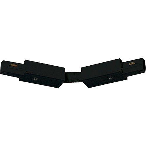 Progress Lighting Black Track Accessory, Flex Connector