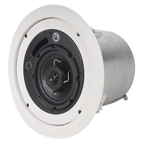 "4 ""système d'enceintes 2-Way w / 16-Watt 70.7V/100V Transformateur interne - Blanc"