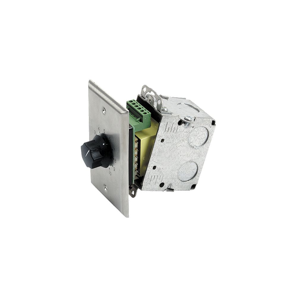 Atlas Sound 10 W simple en acier inoxydable 70.7V Commercial atténuateur
