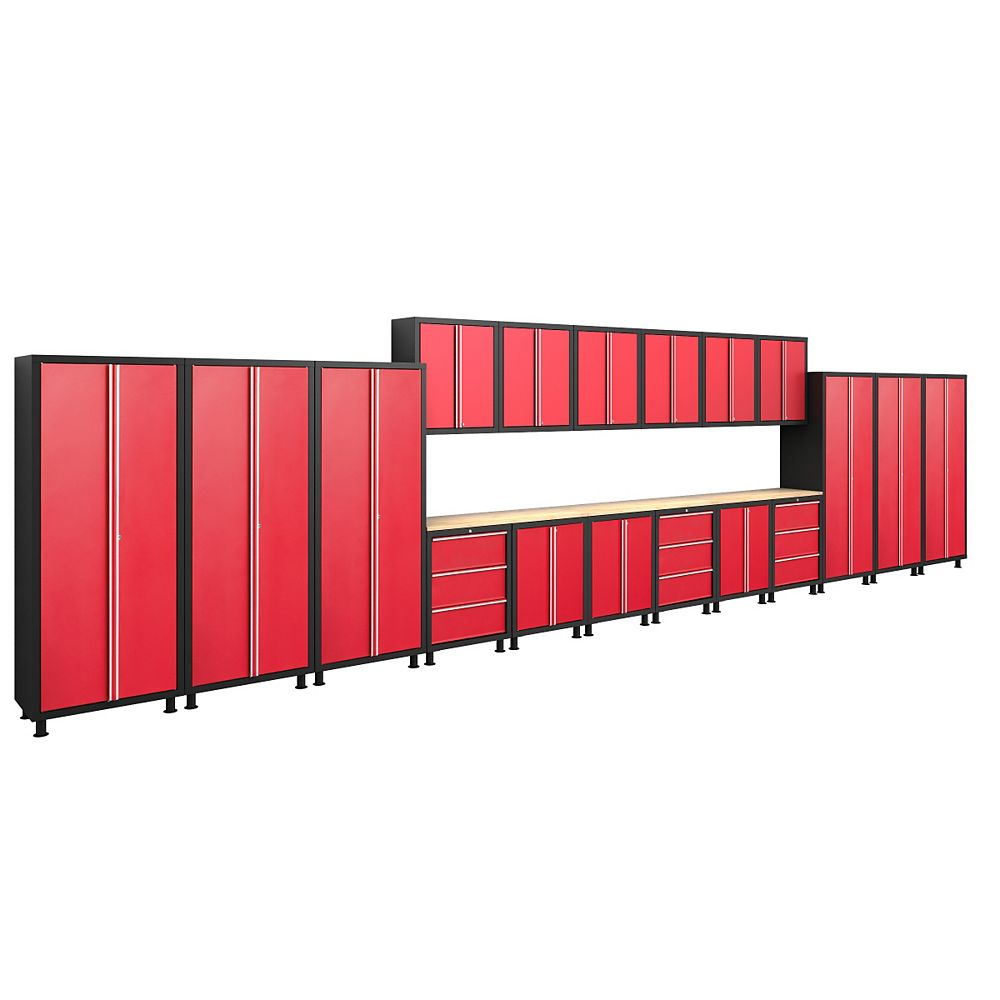 NewAge Products Inc. série Bold, 21 pièces Set Cabinet Rouge