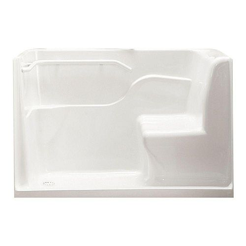 American Standard 5 ft. Walk in Tub Rectangular Left Drain Walk-In Seated Safety Shower in White