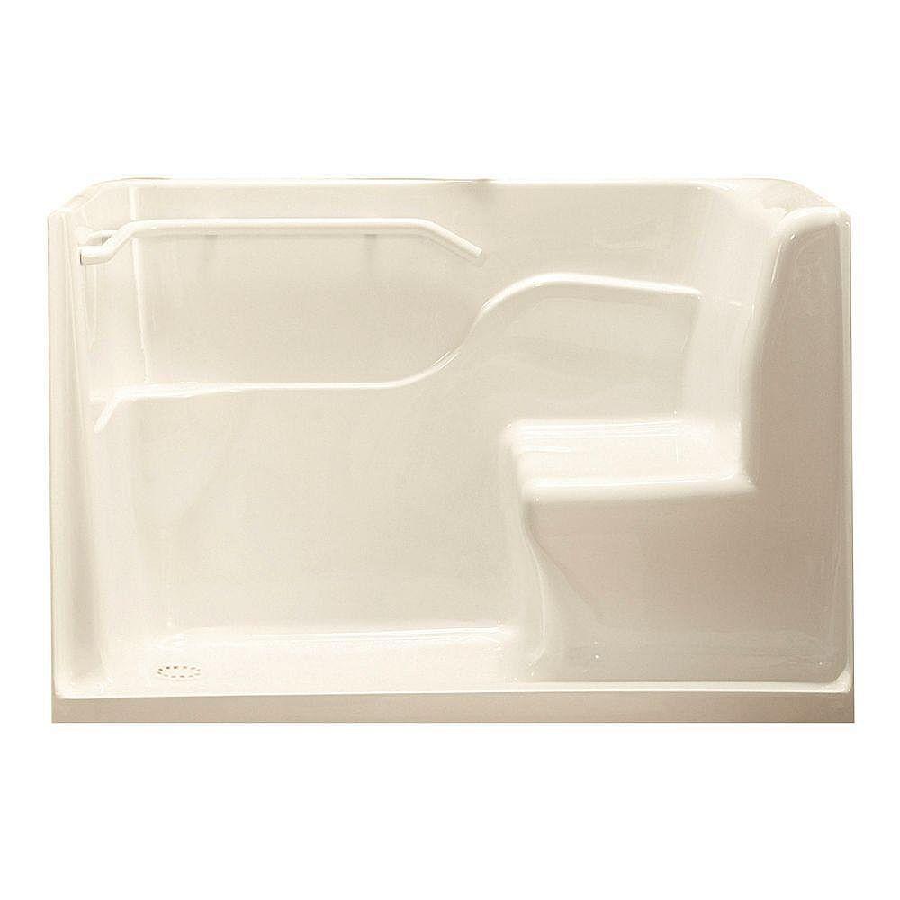 American Standard Porte de douche rectangulaire en acrylique et en lin